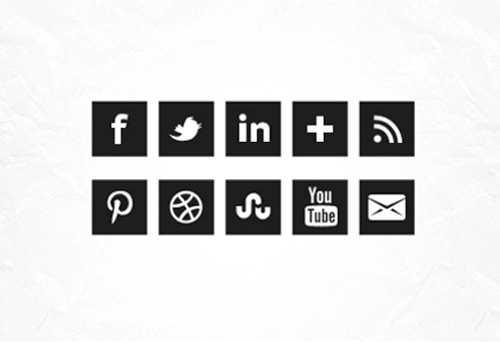 iconos redes sociales blanco y negro 2