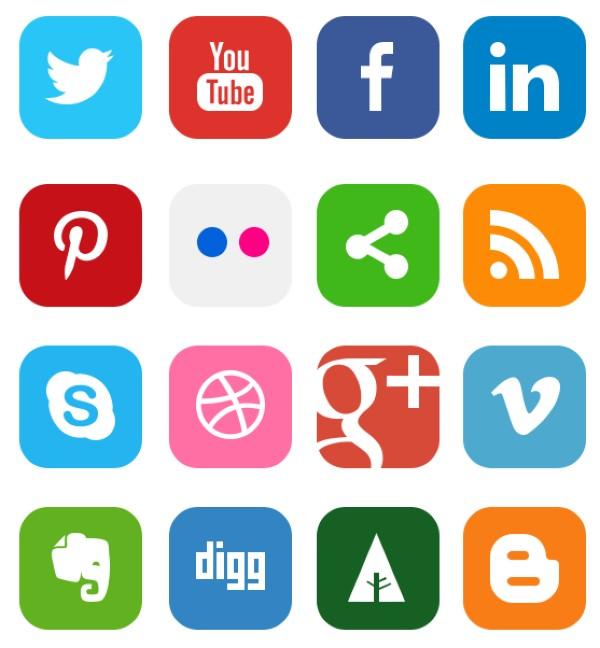 iconos redes sociales clasicos